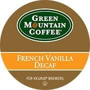 GREEN MOUNTAIN FRENCH VANILLA DECAF K CUP COFFEE 24 COUNT