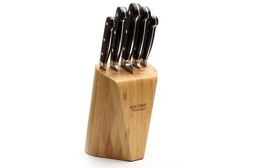 Ross Henery - Set di 5 coltelli da cucina in acciaio inox in ceppo di solido bambù