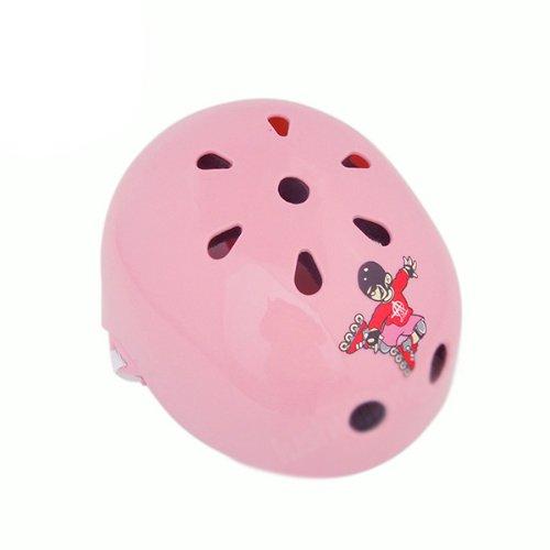 HuntGold Children Kids Bike Scooter Roller Inline Skate Skateboard BMX Helmet Size Medium(pink)