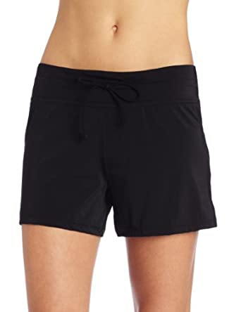 Ocean Avenue Women's Swim Shorts, Black, Small