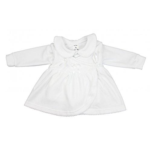 Taufkleid Baby Taufkleidung Mädchen Babykleid Jäckchen Langarm Nicki 2-tlg. Set, Farbe: Weiß, Größe: 74