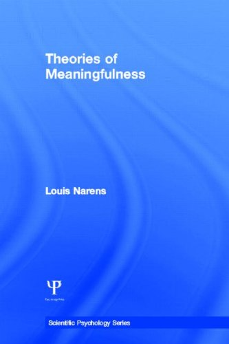 Theories of Meaningfulness (Scientific Psychology Series)