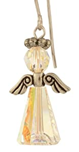 Swarovski Crystal Birthstone Angels - Sterling Silver - April