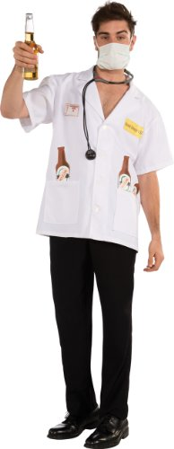Rubie's Costume Boozie Drowzer M.D. Doctor Shirt With Stethoscope and Mask