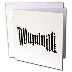 EvaDane – Signs – Illuminati Ambigram. – Greeting Cards-6 Greeting Cards with envelopes