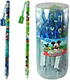 Disney Mickey Mouse Jumbo Pencil and Sharpener (Sold by 1 pack of 48 items)