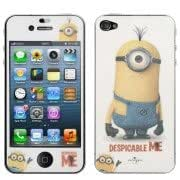 2 in 1 (Front Screen + Back Cover) Despicable Me Pattern Film Screen Protector for iPhone 4 4S (CS-120)