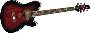 Ibanez TCY20E Talman Series Double Cutaway Acoustic-Electric Guitar - Transparent Red Sunburst