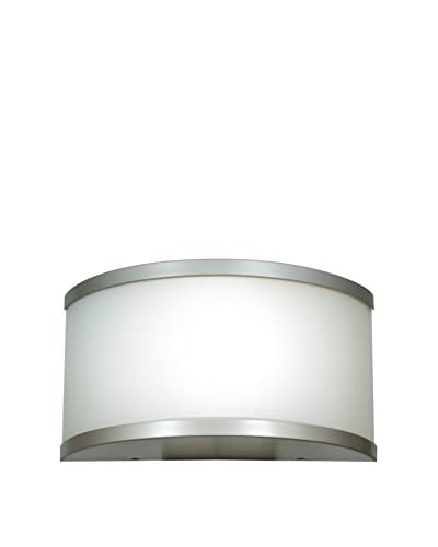 Access Lighting 20397-SAT/OPL 180 Collection - One Light Damp Location Wall Sconce - Satin Finish wi...