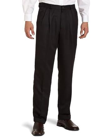 Dockers Men's Advantage 365 Khaki D3 Classic Fit Pleated Pant, Black, 44X30