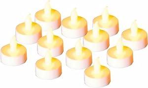 Festive Flameless LED Tea Light Candles, Pack of 12 by Festive Productions Ltd