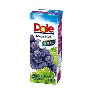 Dole(ドール) グレープ 200ml紙パック×18本入