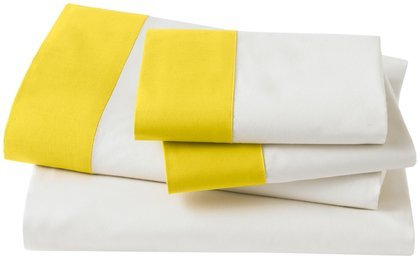Dwellstudio Modern Border Citrine Sheet Set, Full