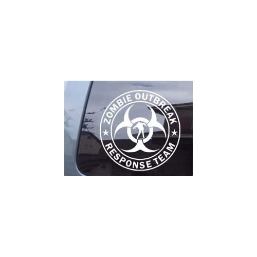 Zombie Outbreak Response Team With Zombie Car Laptop Vinyl Decal Sticker  Large Size