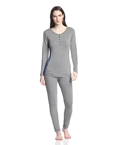 Splendid Women's Henley Pajama Set