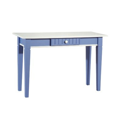Cheap Console Table in White & Bahama Blue (FS-81-BL)