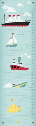 "Oopsy Daisy Growth Chart, Making Waves, 12"" x 42"""