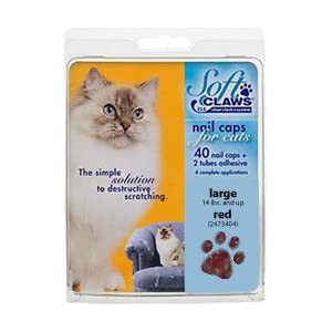 Soft Paws - Soft Claws for Cats - Large Red