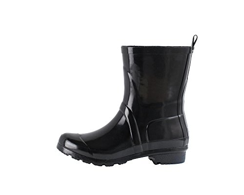 Women's Noxon Short Rubber Rain Boots (11, Black) (Rain Shoes For Women Size 11 compare prices)