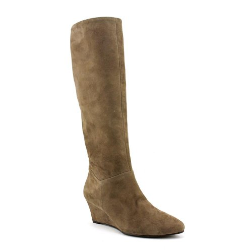 Marc Fisher Women's Verifies Suede Knee High Boots in Medium Natural Size 6
