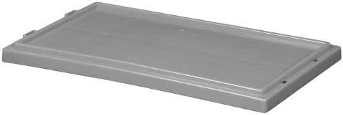 Akro-Mils 35181 Lid for 35180 and 35185 Plastic Nest and Stack Tote Grey Case of 6