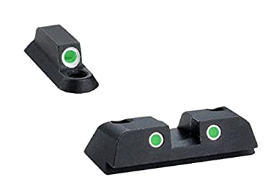 Ultimate Arms Gear BR-141 Tritium 3 Dot Night Sight Front And Rear Set Beretta Nano by Ultimate Arms Gear