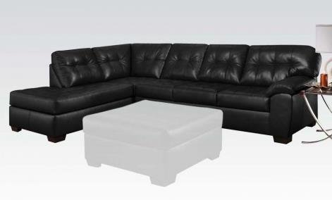 2 Pc Simmons Shi Ii Collection Onyx Bonded Leather Sectional Sofa