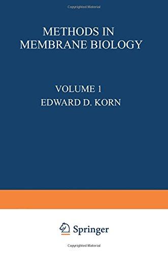Methods In Membrane Biology: Volume 1