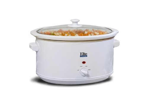 Maximatic Mst-900Vw Elite Cuisine Slow Cooker, 8.5-Quart, White