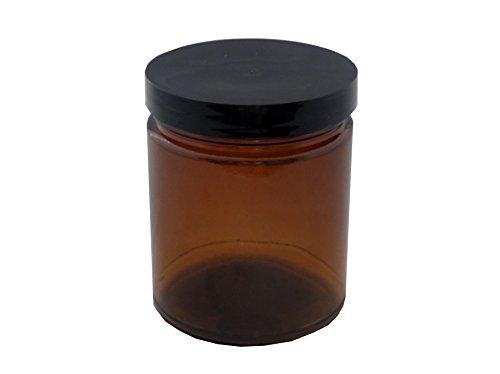 Amber Jars Glass - Medical Herb/Spice/Stash Jar-9 oz.