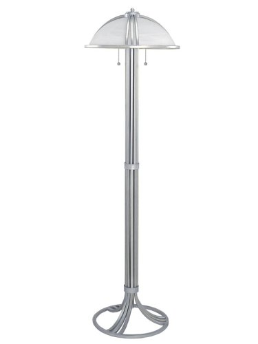 Lite Source LS-9831 Avanti Floor Lamp, with Alabaster Glass Shade