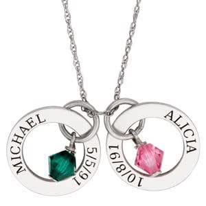 sterling silver couples name and date