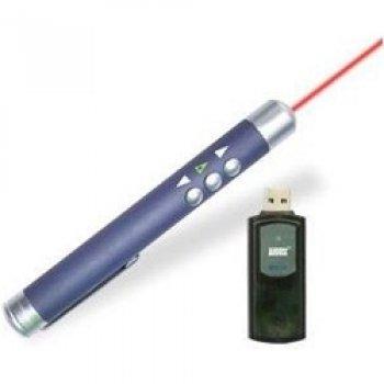 August LP102R Puntatore laser per presentazioni con funzione scorrimento pagine a distanza - Ricevitore a penna USB
