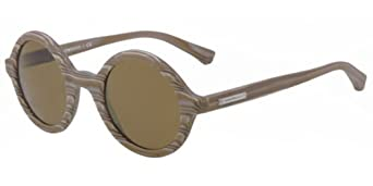 Emporio Armani EA4011 Sunglasses-509373 Wood Matte Gray (Brown Lens)-45mm