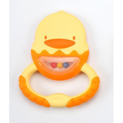 7 cm Dual Color Soft Teether with Container [Set of 2]