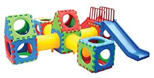 Large Cube Play Fourty Four Piece Play Center With Slide