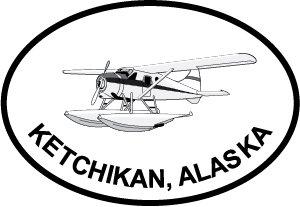Ketchikan Bush Pilot Euro Oval Bumper Sticker (Universal Bush Bumper compare prices)