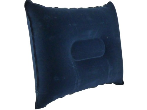 NEW - Inflatable Travel Pillow - Soft Tough Head Rest - Support Cushion - Quick & Easy to Inflate - Soft Pillow Cushion