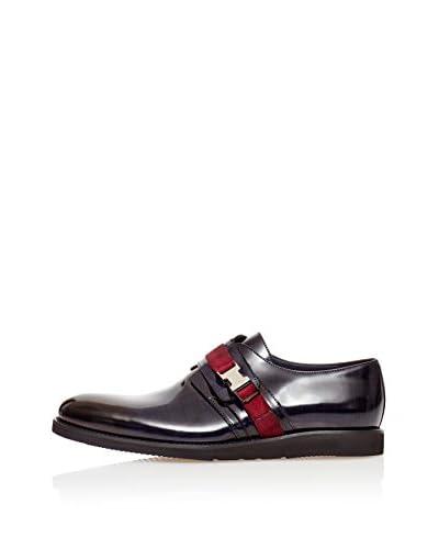 Reprise Zapatos Pasador Azul Oscuro