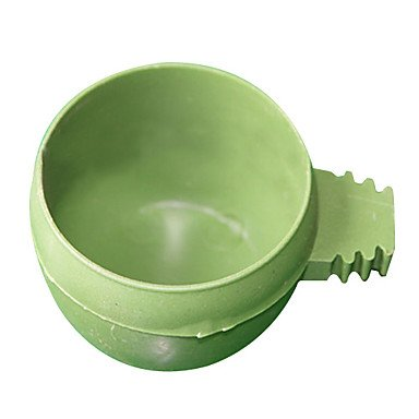 Zcl Circle Box In-Cage Food Feed For Pets Birds , Green , S