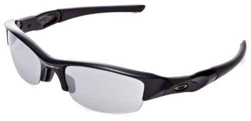 오클리 선글라스 Oakley Mens 플락 자켓 24-020J Rectangular Sunglasses,Jet Black