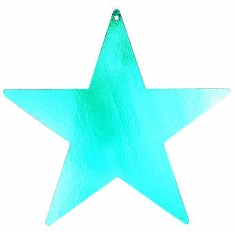 star foil cutout 15 inches -turquoise
