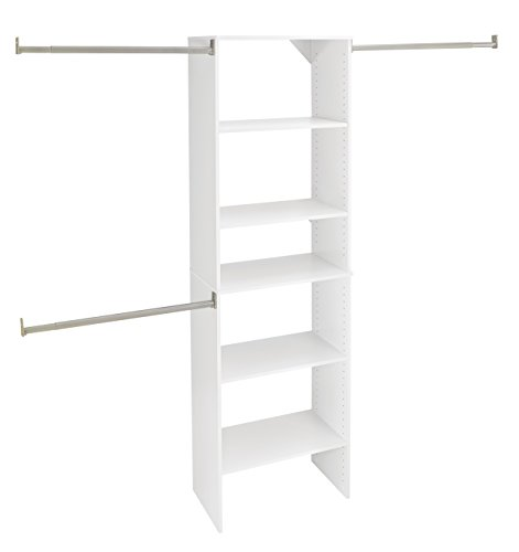 ClosetMaid 24869 SuiteSymphony Starter Tower Kit, 25-Inch, Pure White (Closet Starter Kit compare prices)
