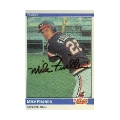 Mike Fischlin Cleveland Indians 1984 Fleer Autographed Hand Signed Trading Card.