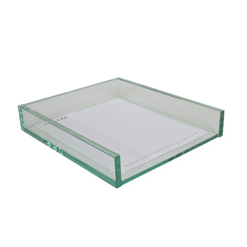 Amazon.com - Milano Series Glass Paper Tray - Home Office Storage And