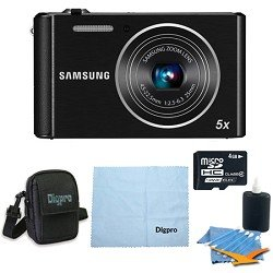 Samsung ST76 16MP 5X Optical Zoom Compact Digital Camera - Bundle Deal