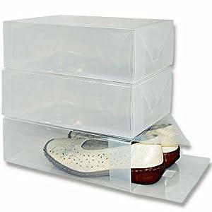Bo te chaussures bo te de rangement pour femmes et - Boite de rangement chaussures transparentes ...