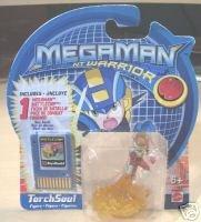 Megaman NT Warrior Torch Soul Battlechip Disk & 2 1/4