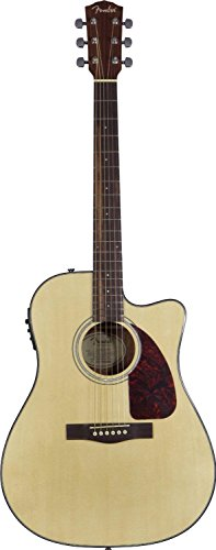 Fender Cd-140Sce Dreadnought Cutaway Acoustic-Electric Guitar - Natural