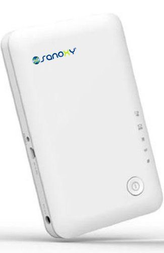Sanoxy 3G/4G Mobile Wireless N Ev-Do Router With Built In 3G Modem And Rechargeable Lithium Battery For Sprint/Verizon Data Sim Cards Plan